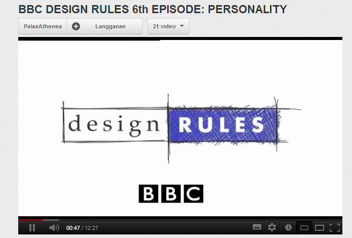 BBC DESIGN RULES 6th EPISODE- PERSONALITY - YouTube